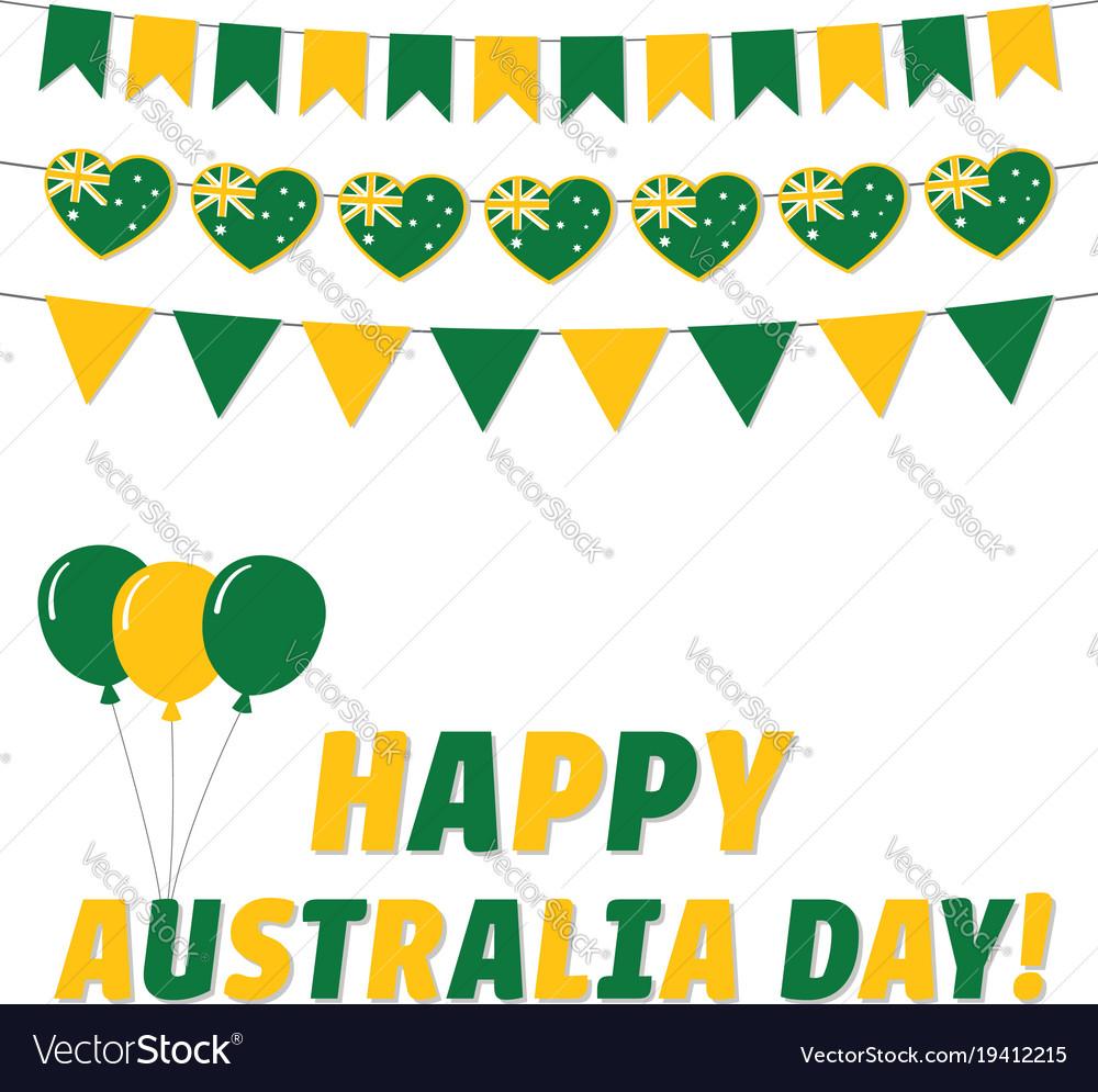 Australia day greeting card royalty free vector image australia day greeting card vector image m4hsunfo