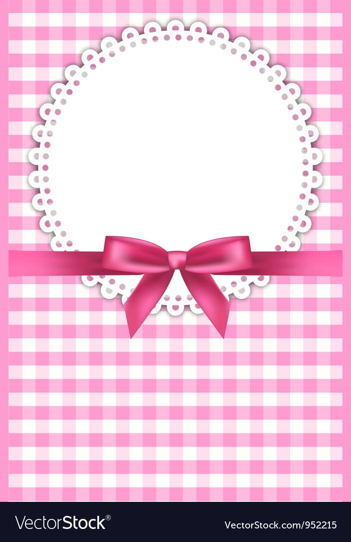Baby pink napkin background vector image