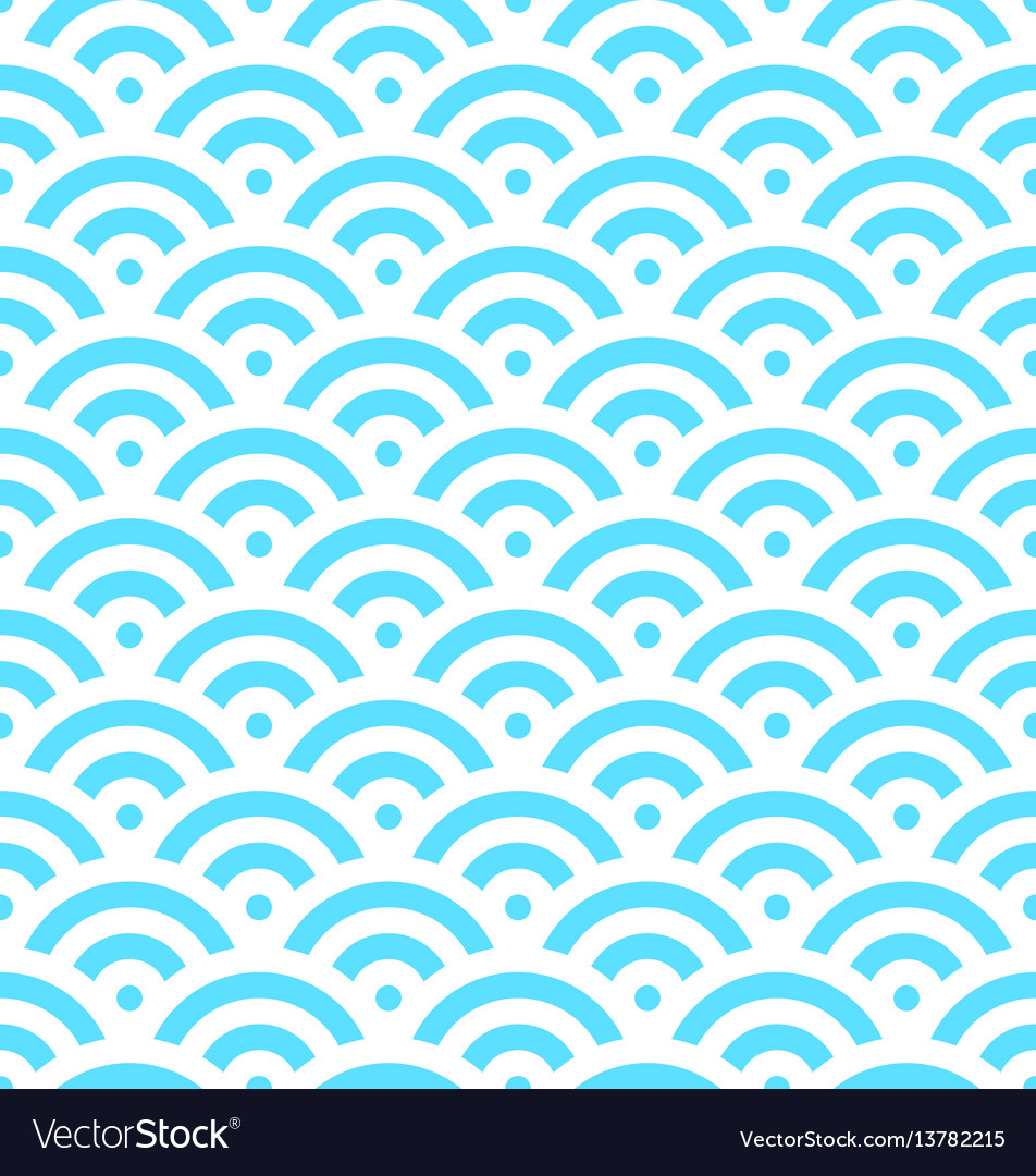 Blue fish scale background of concentric circles
