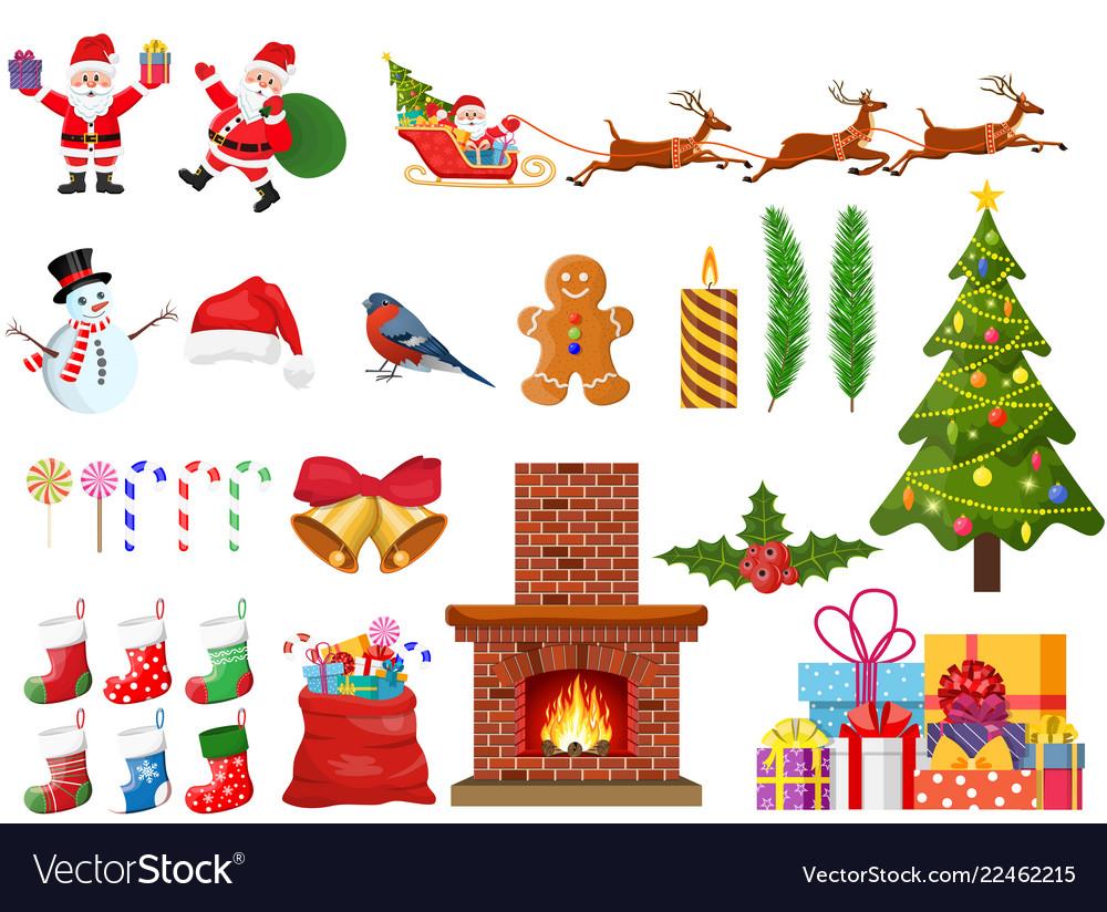 Christmas new year set