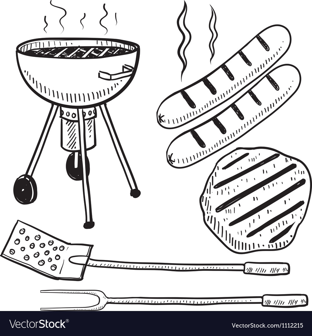 Doodle grill cook summer