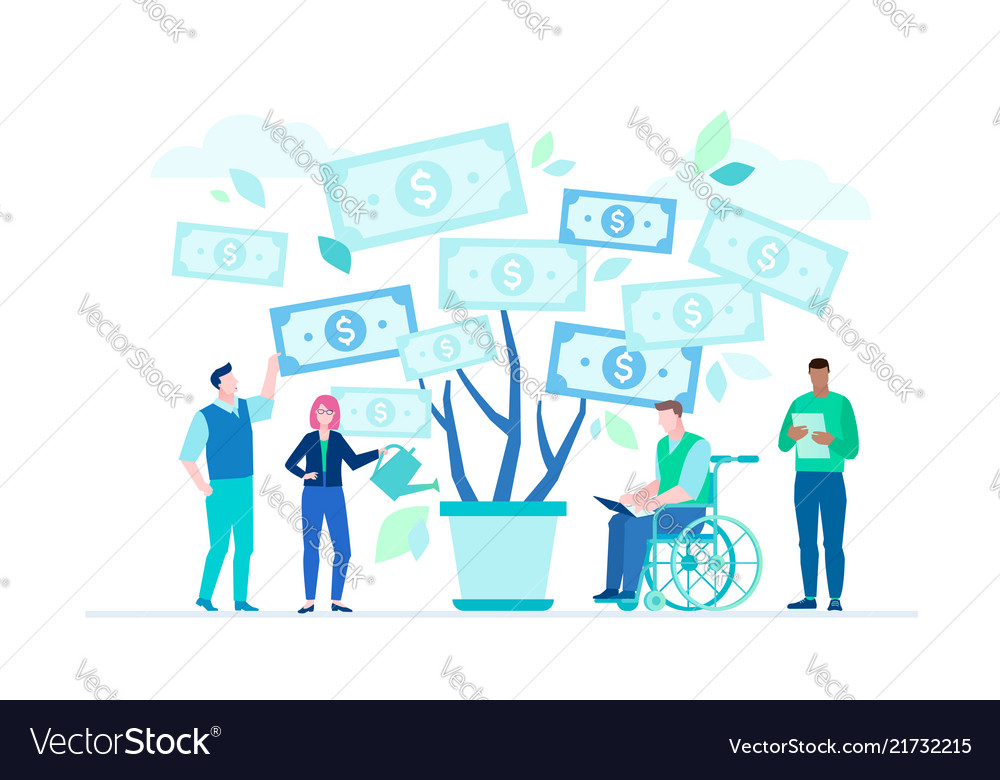 Financial success - flat design style colorful
