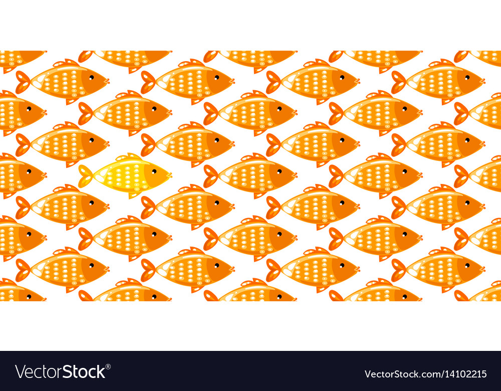 Fish seamless pattern on white background