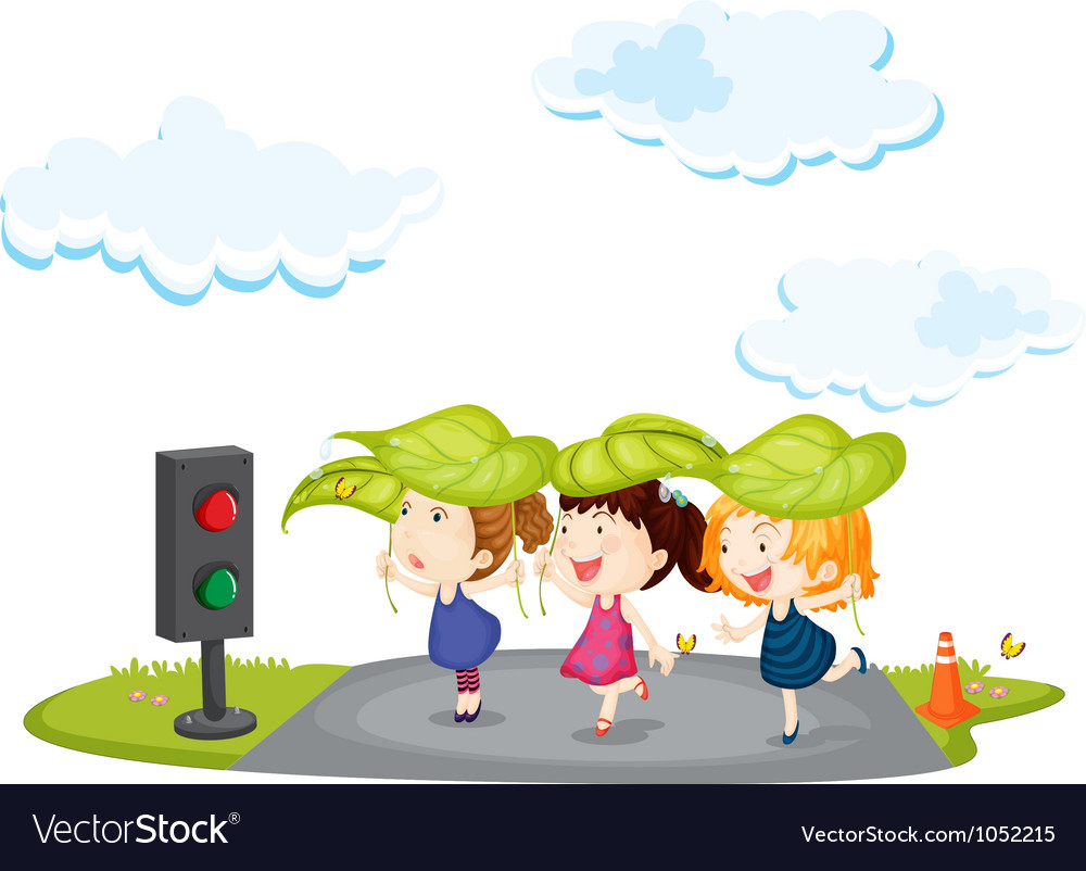 Kids crossing street