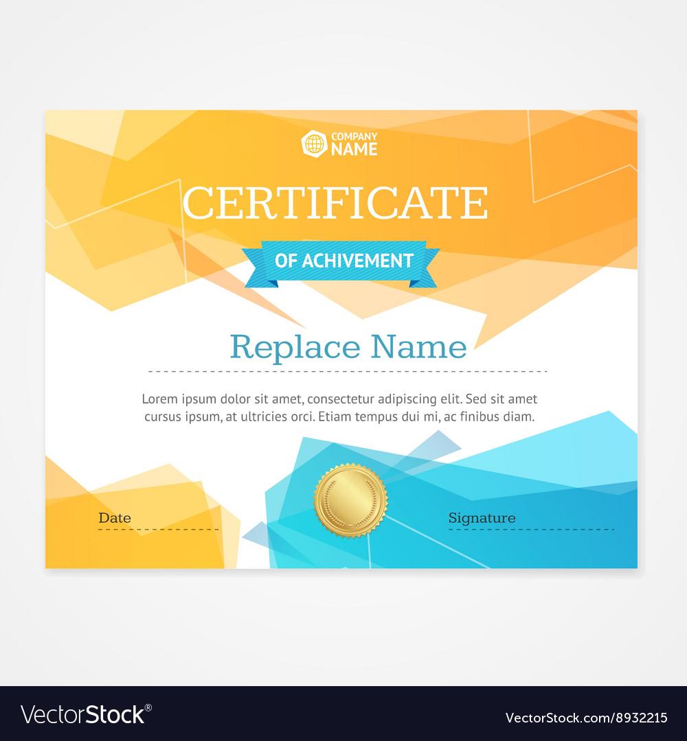 Modern Certificate Template Horizontal vector image