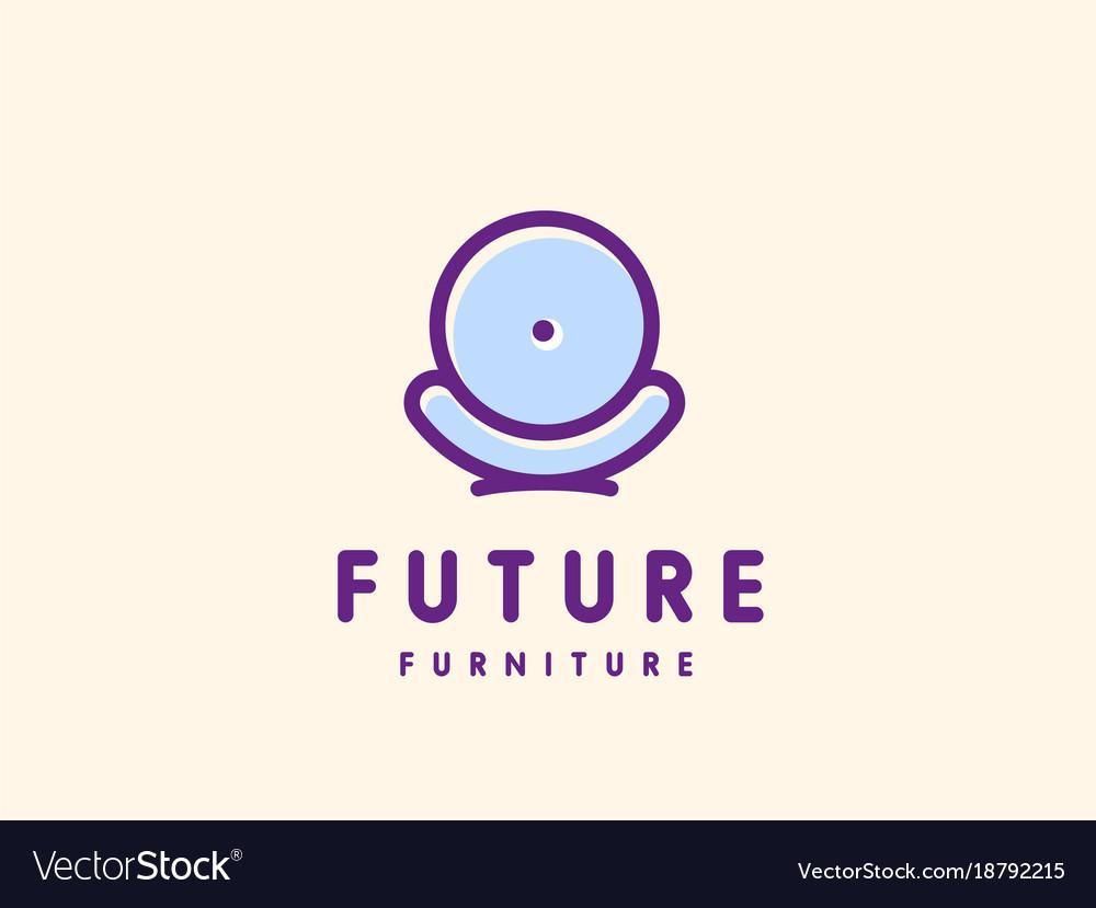 Modern minimalistic furniture logo template vector image on VectorStock