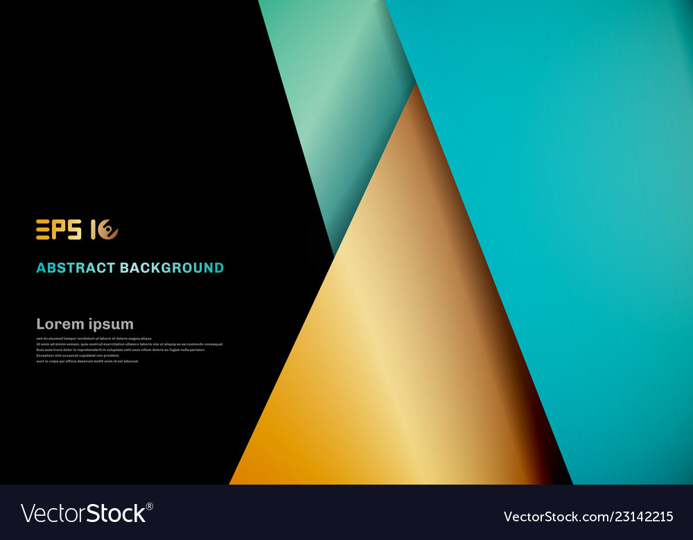 Modern template blue gold color geometric