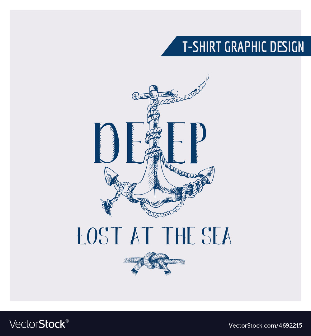 Nautical Anchor Graphic Design - for t-shirt