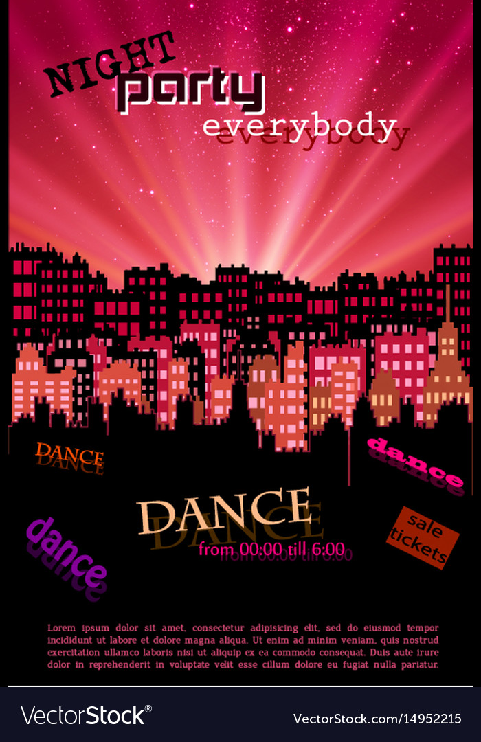 Night city background for your poster and flyer
