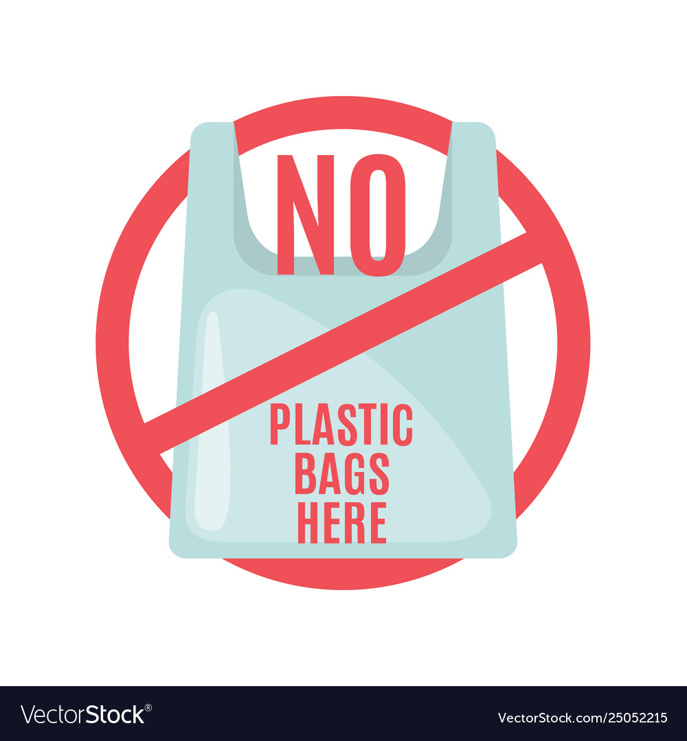 No Plastic Bag Vector Flat Design - Free Download Vector ...
