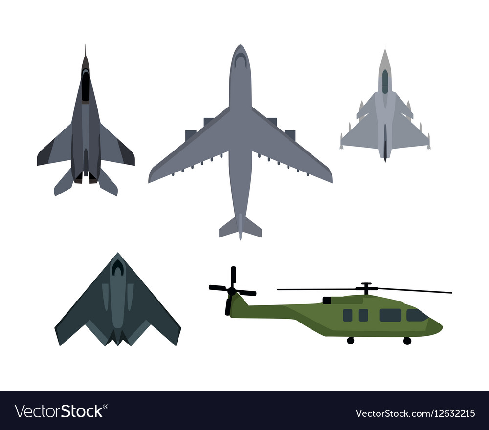 Set of Military Aircraft