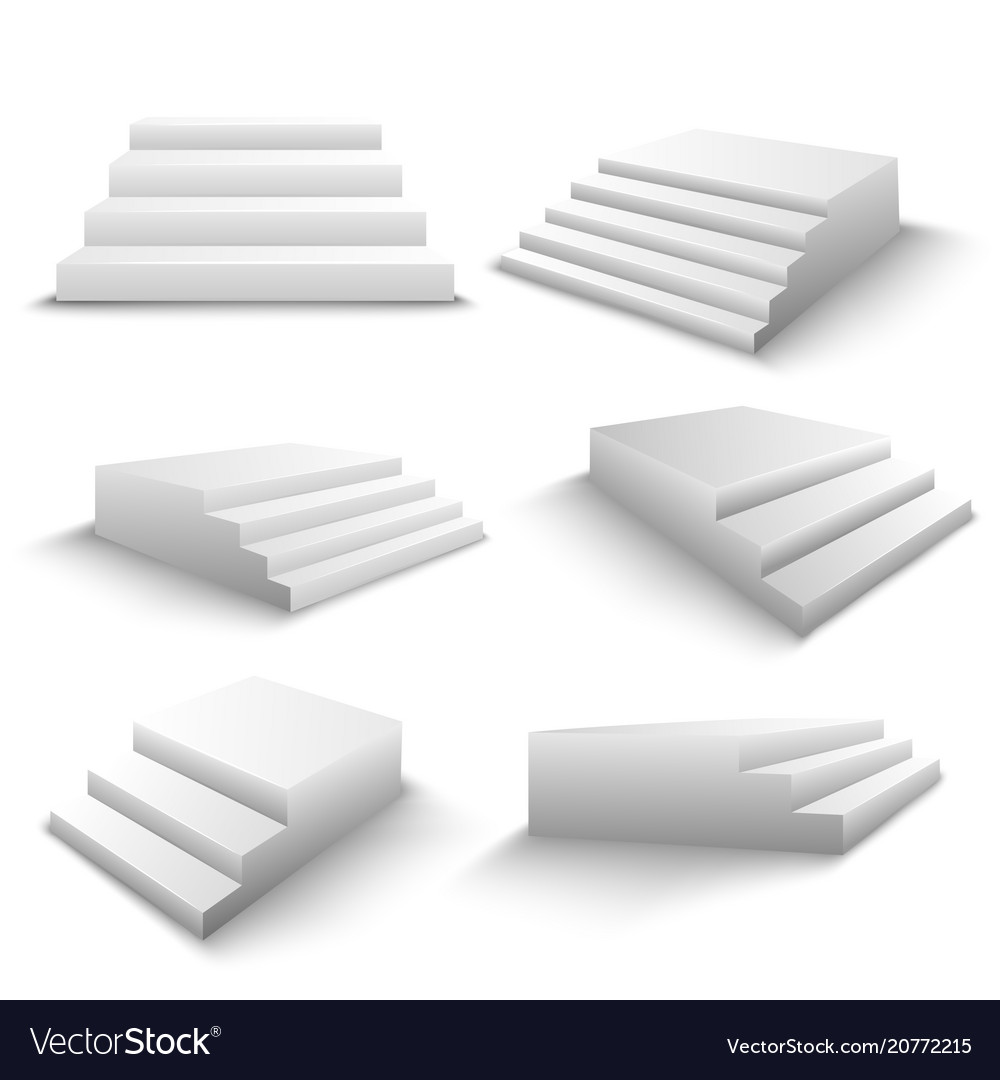 Stairs 3d realistic set