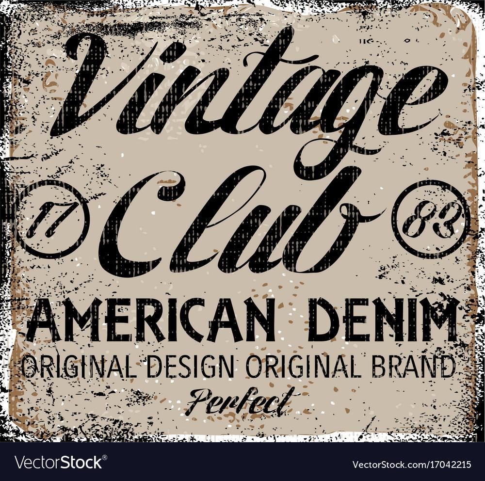 Vintage design stamp typography t-shirt graphics