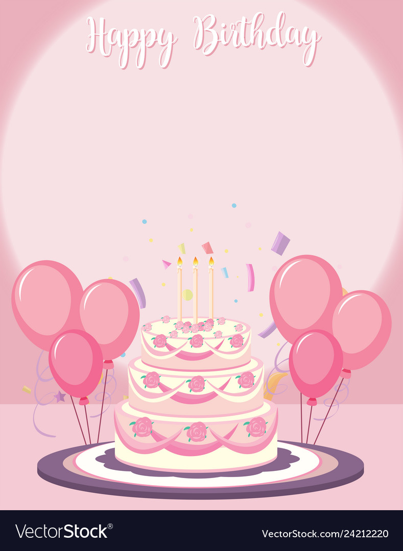 Brilliant A Birthday Card Template Royalty Free Vector Image Personalised Birthday Cards Bromeletsinfo