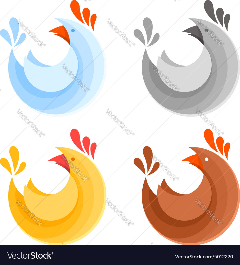 A collection farm chicken icons