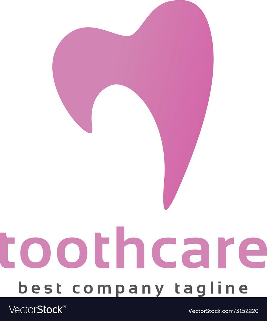 Abstract dental tooth logo icon concept Logotype vector image