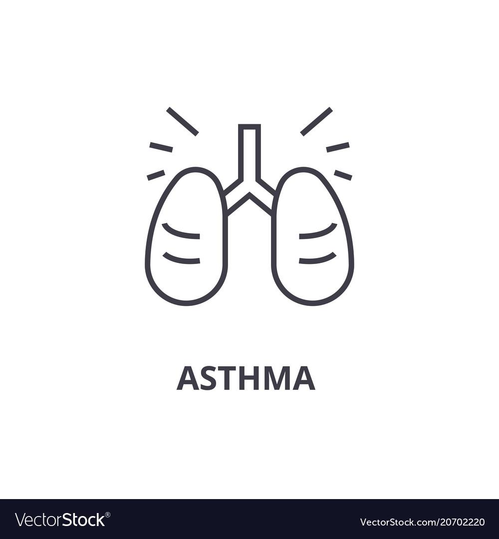 Asthma thin line icon sign symbol