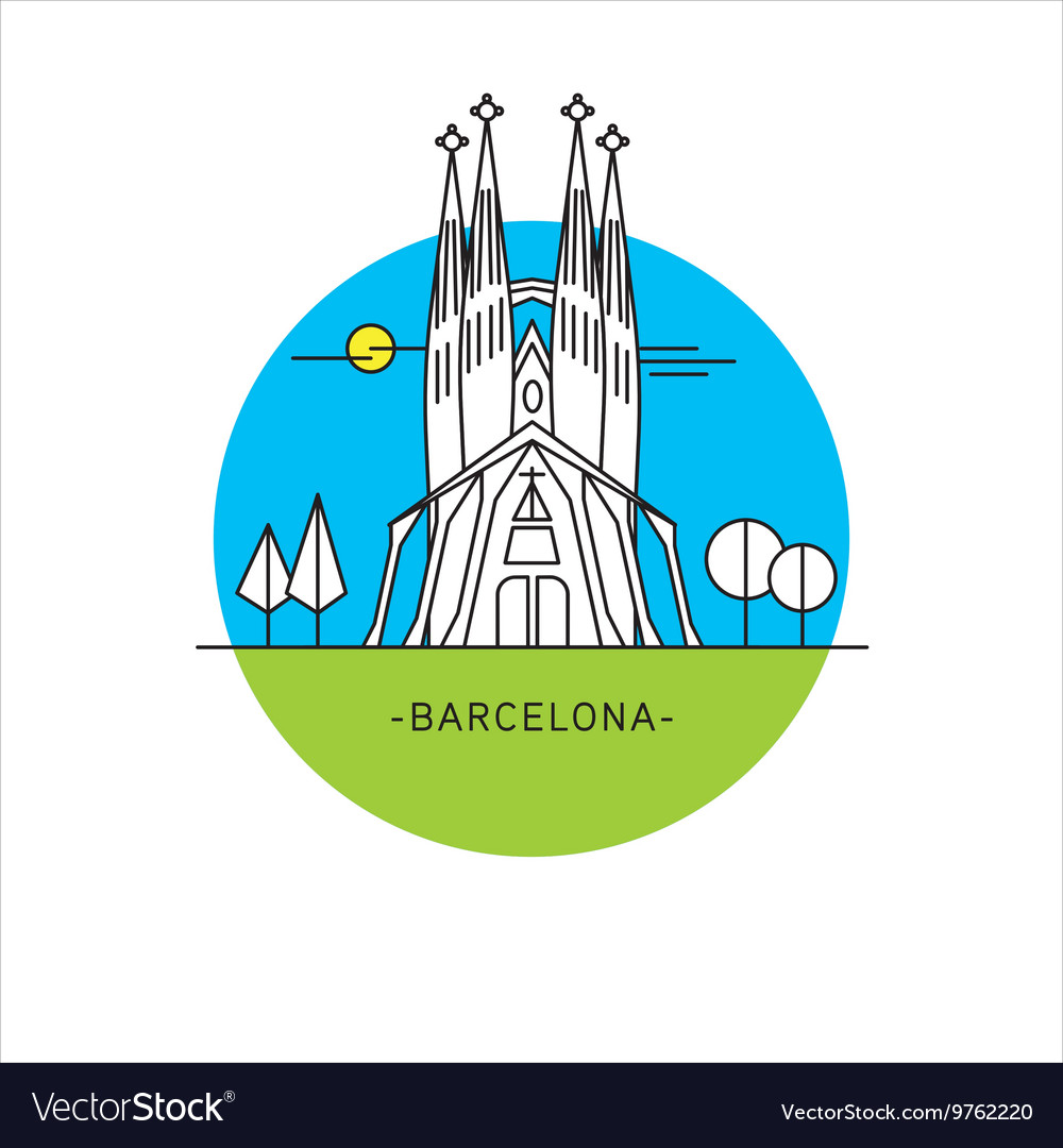 Barcelona Spain Sagrada Familia Icon landmark