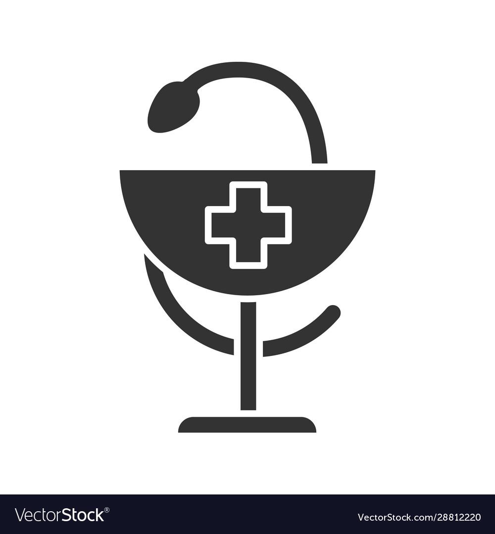 Bowl hygeia glyph icon