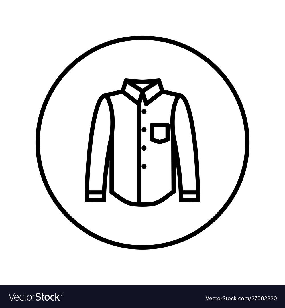 Classical shirt icon editable thin line