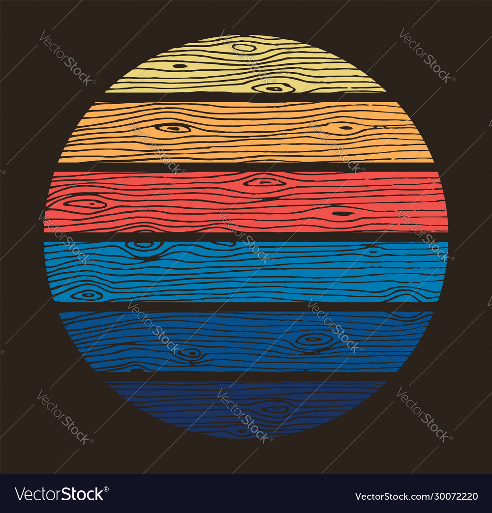 Colored round design background wood texture