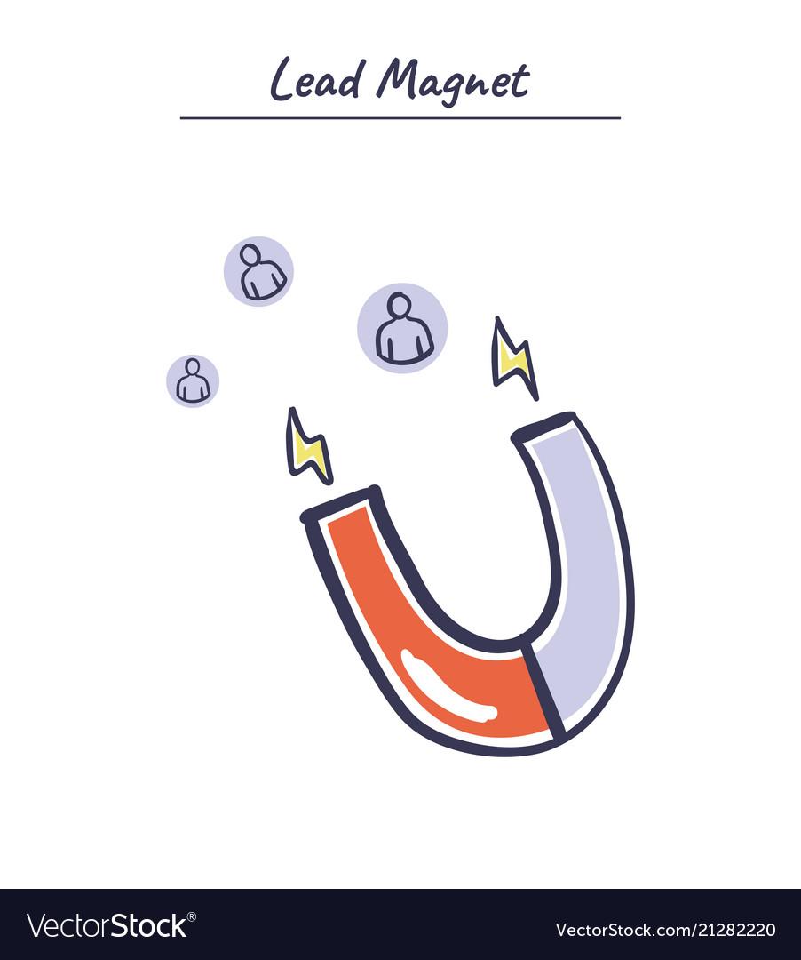 Internet marketing concept lead magnet