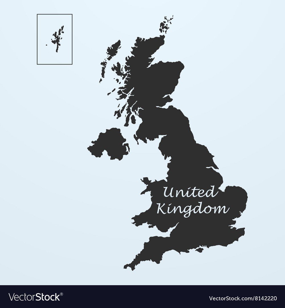 Map of United Kingdom Great Britain or England