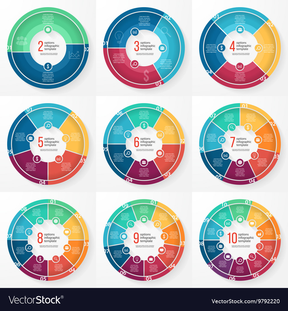 Pie chart circle infographic templates