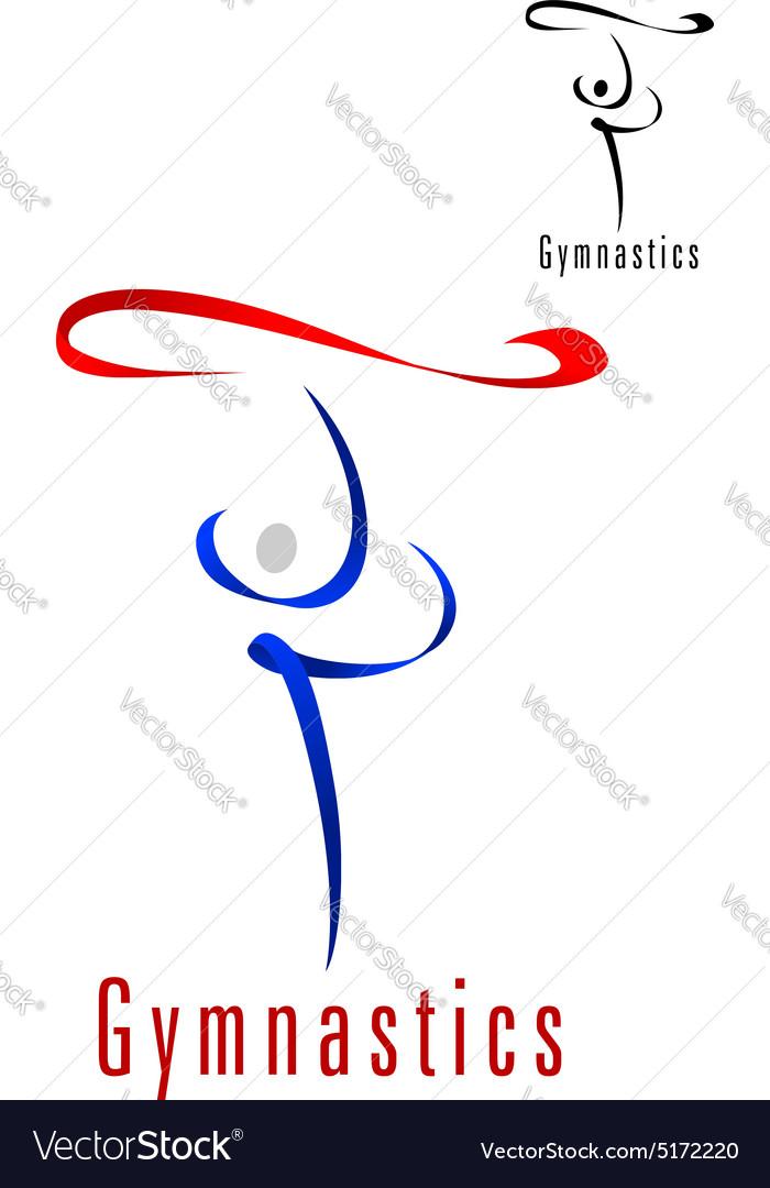 Rhythmic Gymnastics Emblem Or Symbol Royalty Free Vector