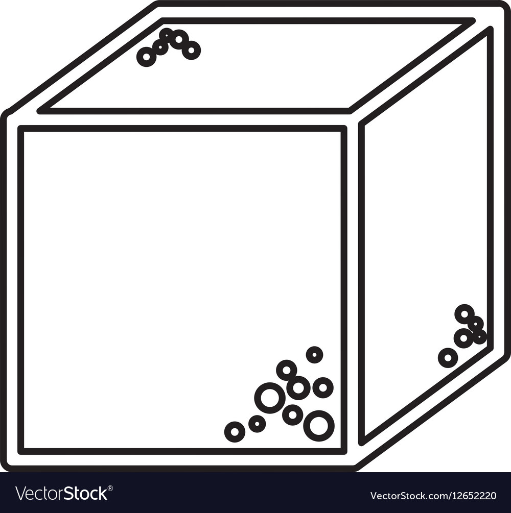 Sugar cube sweet icon vector image