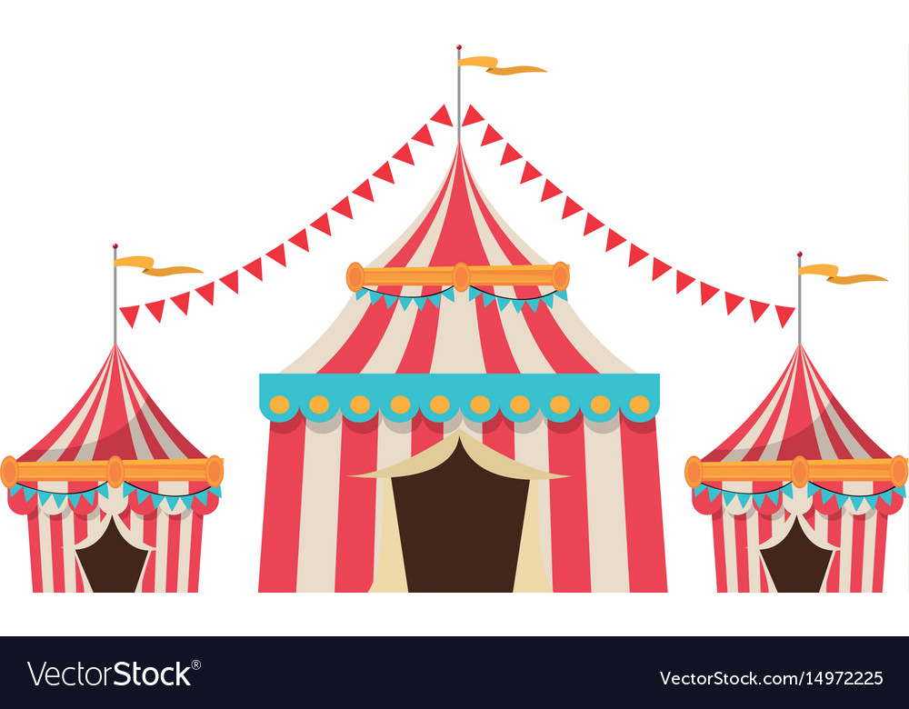 official photos 0c417 4fd2b Circus tent tops red and white stripes flag on