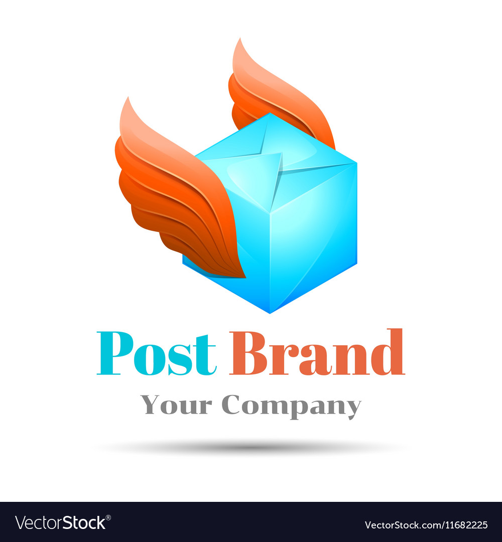 Delivery post Volume Logo Colorful 3d Design