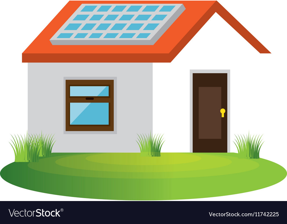 Ecology House Isolated Icon Vector Image