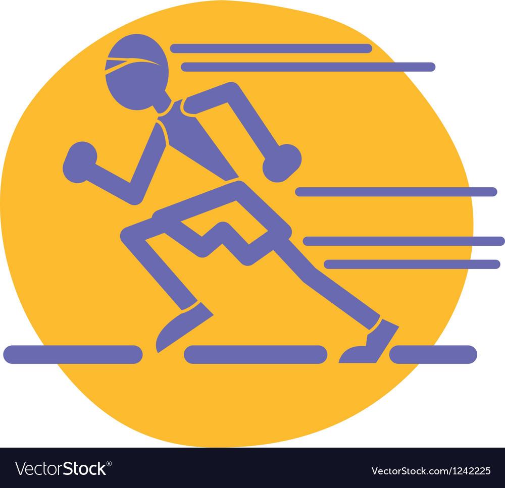 Runner logo vector image