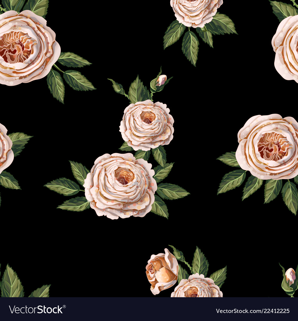 Seamless pattern with english roses