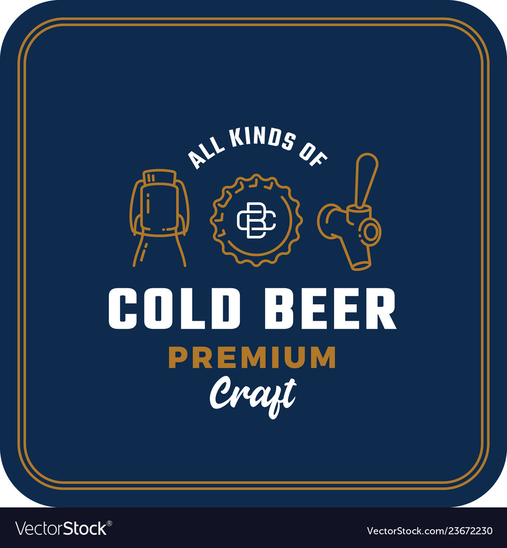 All kinds of cold beer abstract beer sign