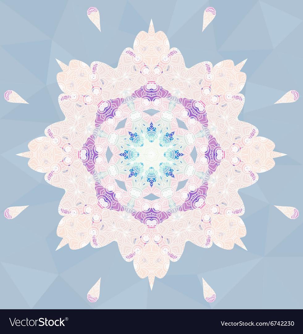Circle lace ornamental snowflake