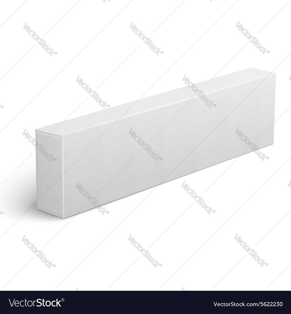 Long blank cardboard box template vector image