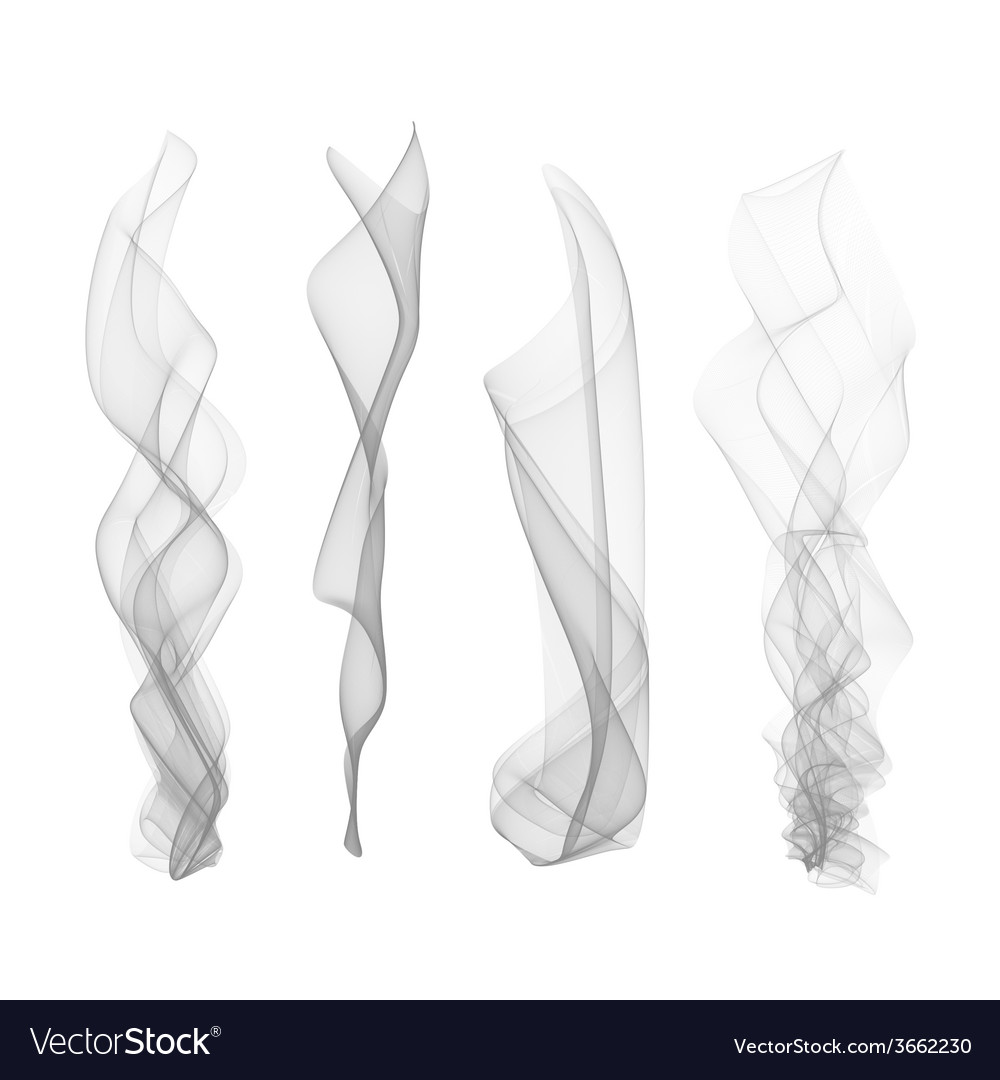 set of smoke effect smooth flame background vector 3662230