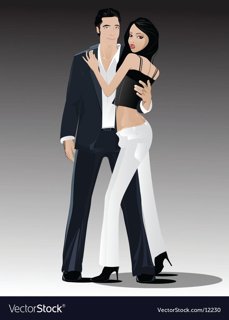 Sexy couple vector image