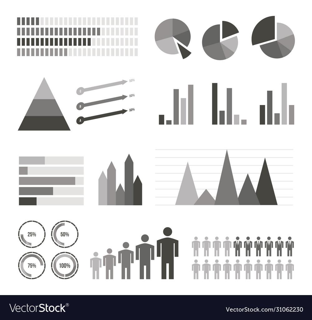 Variety infographics elements set
