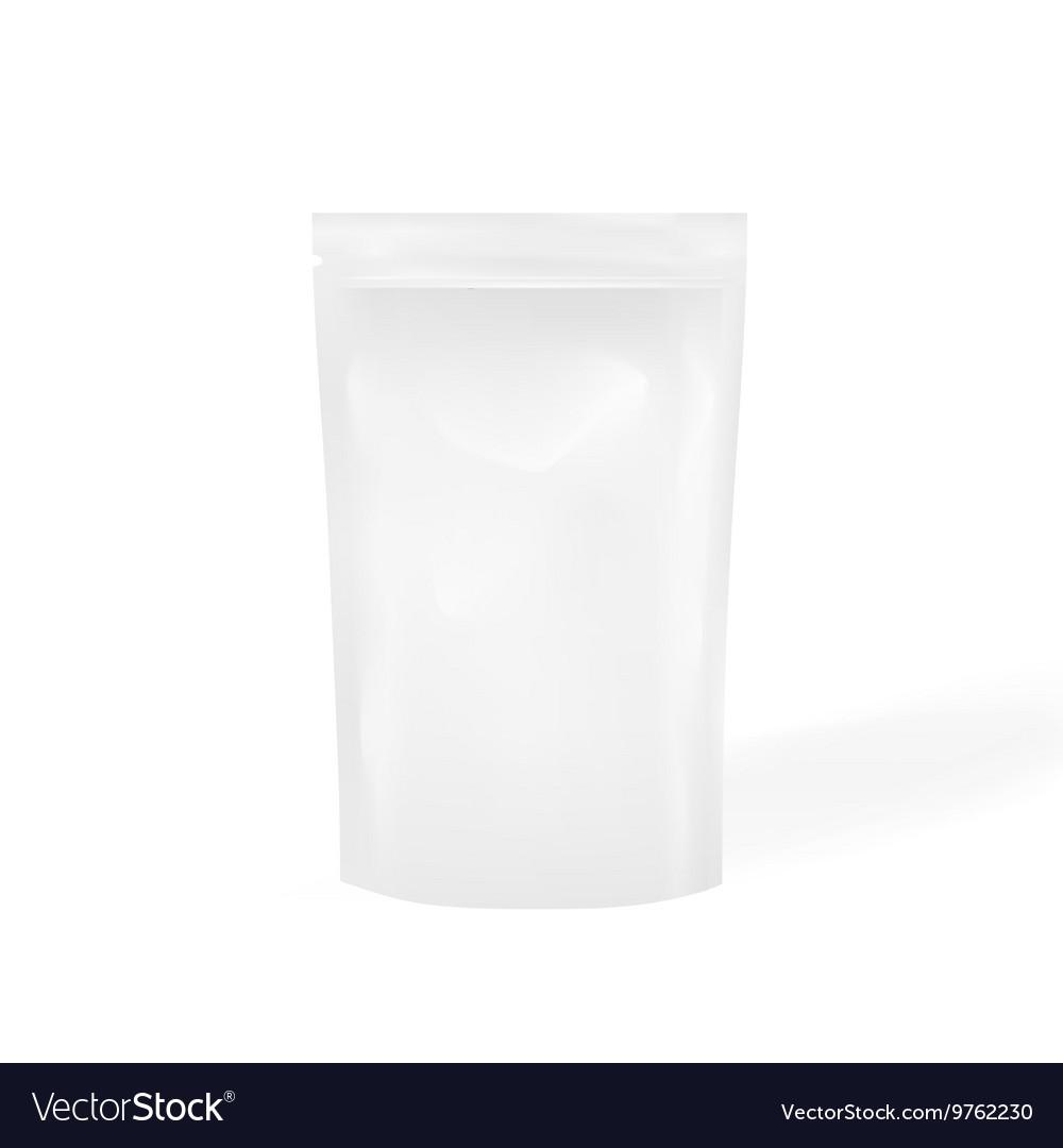 White Blank Foil Food Or Drink Doy pack Bag