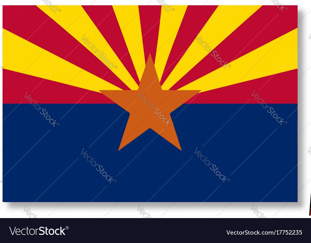 Map Of East Arizona.East Arizona Map And Flag Royalty Free Vector Image