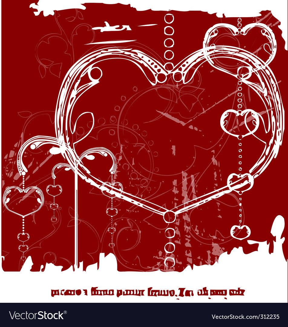 Grunge Valentine's day vector image