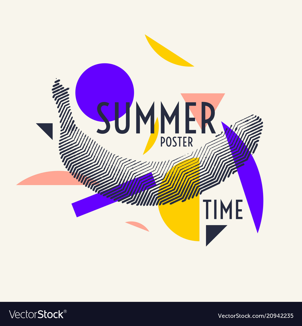 f79a7f1e1c4dab Summer time stylish poster trendy graphics Vector Image