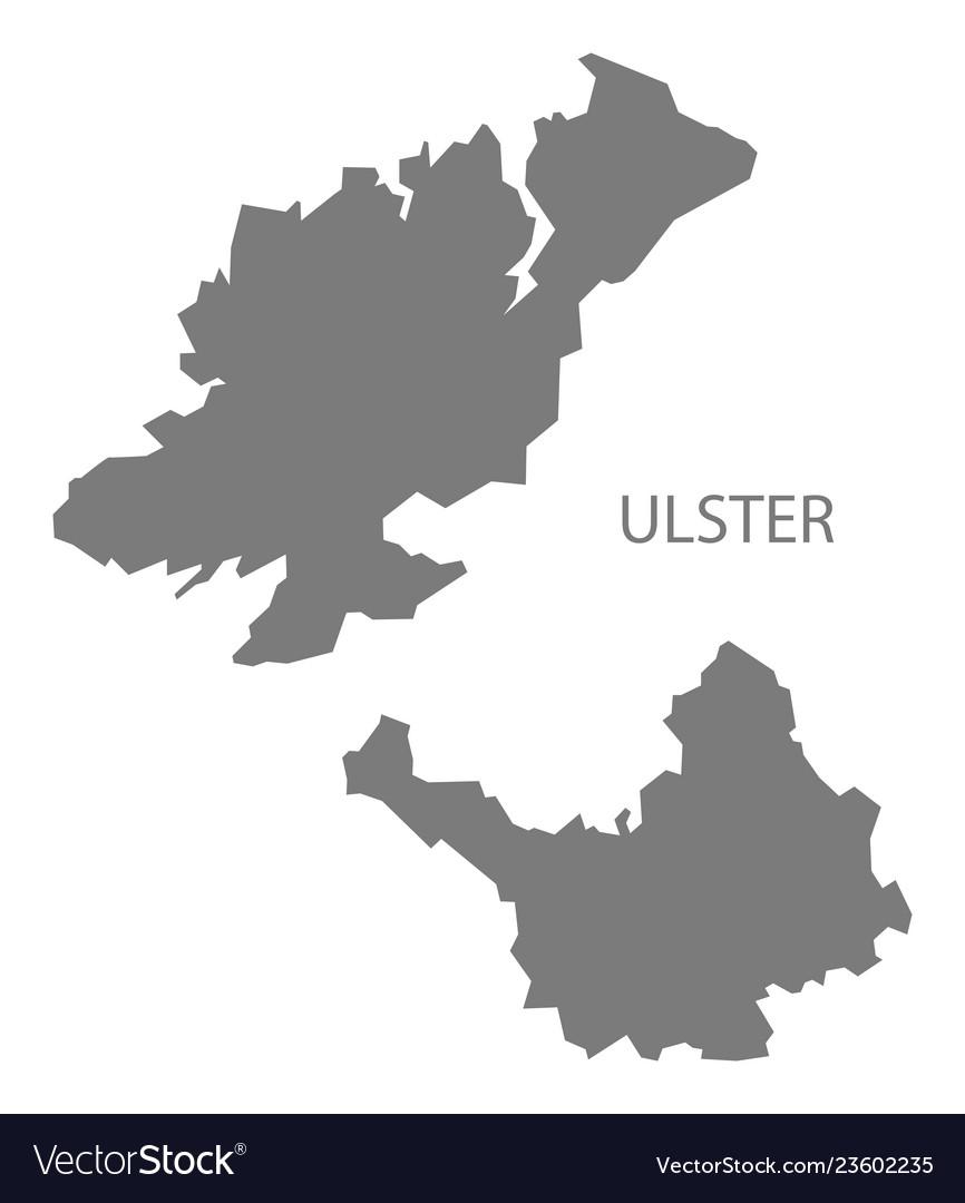Ulster Ireland Map Grey Royalty Free Vector Image