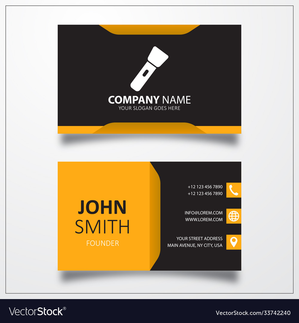 Flashlight icon business card template
