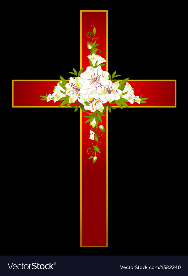 Flowers and a cross