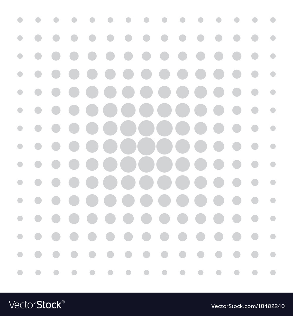 Grey comic pattern dots on white background
