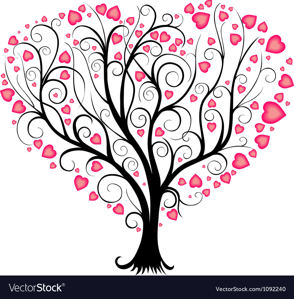 love tree royalty free vector image vectorstock rh vectorstock com tree vector free icon tree vector free ai